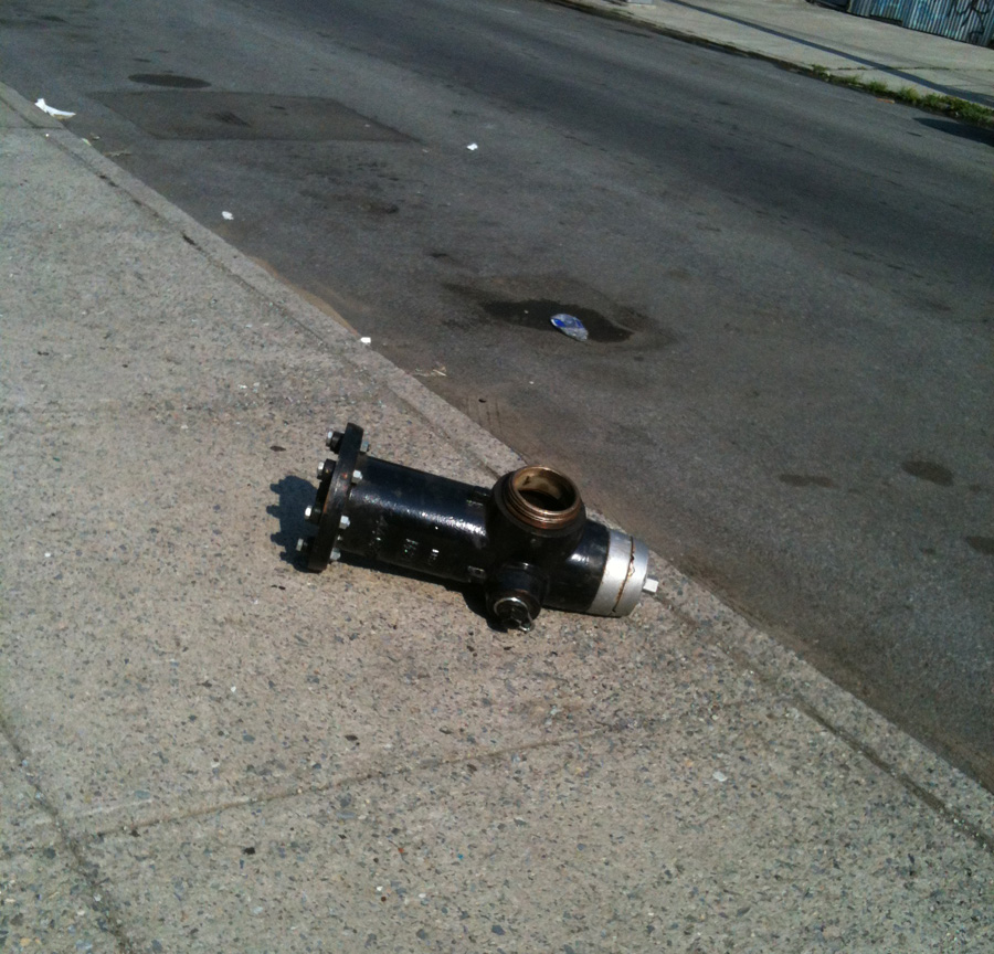 residencyunlimited: this hot hydrant's all like, 'fuck this shit i give up,' and i'm all like, 'i hear you dude.'