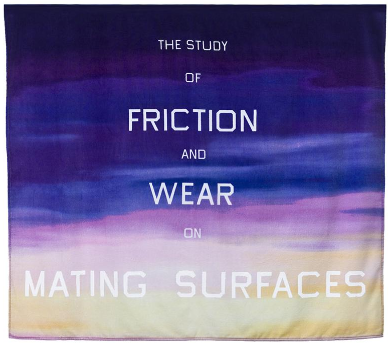 summerfridays :     A beach towel by Ed Ruscha, via the Los Angeles  Museum of Contemporary Art store .    Some more great Ruscha coming up, since he was basically the master of California cool, which is definitely summer-appropriate.      File Under: Beach Towels to Acquire.