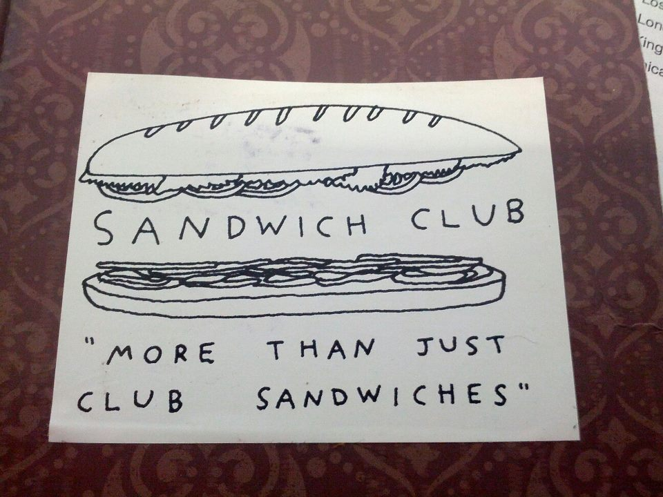 lmnophoto :     Can someone remind me where I got this awesome sticker?      At my place! Compliments of  Shannon Finnegan  and  Aliya Bonar  on behalf of the  Sandwich Appreciate Club !