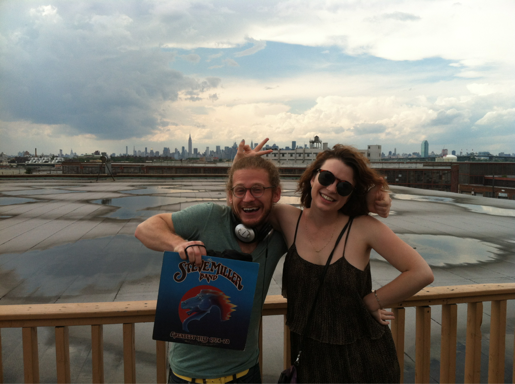jeffdtaylor :      Annie  and  Emmanuel  at 1717 Troutman, epicenter of Bushwick Open Studios.     FTW