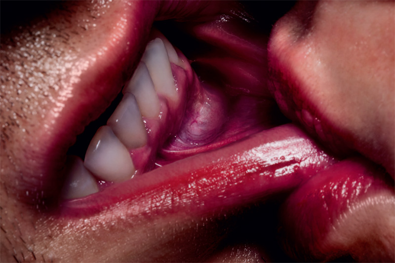 stylesight: Solve Sundsbo for Exhibition Magazine wild color. creepy compelling lip service.