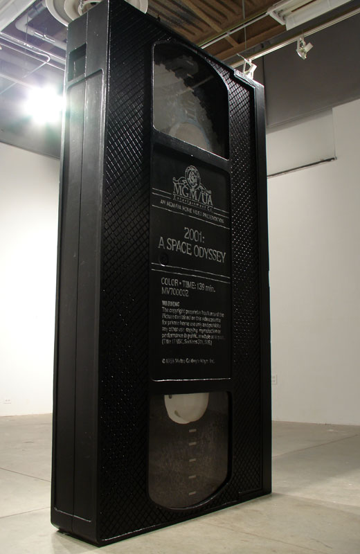 "David Herbert VHS, 2005 Foam, plexiglas, latex paint 50"" x 12"" x 96"" via"