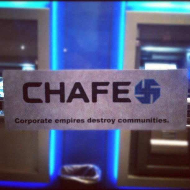 Totally hypocritical as I have yet to close my Chase account, but this was a nice reminder… Union Square, NYC (Taken with instagram)