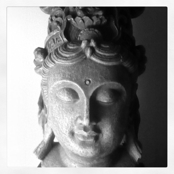 A Buddha. A talisman. A protector. A steady calm. A gift from my mother. A blessing. (Taken with  instagram )