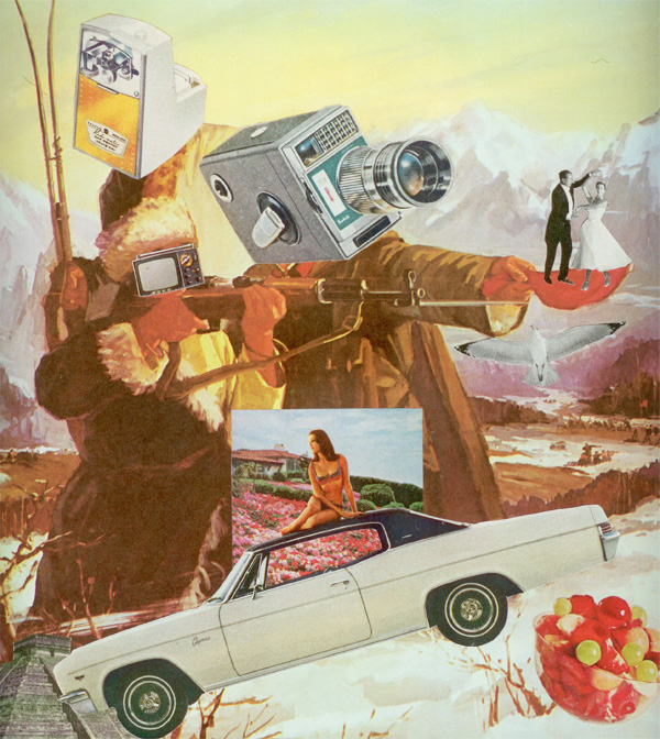 "let's dance collage 9.5""x9"" 2011  from the ""consumables"" series."