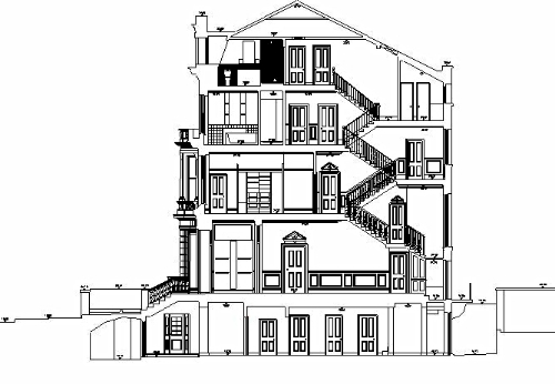 To compliment floor plans, RGL Surveys produce elevations, sections and roof plans. From the smallest of flats to a Grade 1 listed building, RGL Surveys have the experience and technology to be able to produce detailed elevations of any building or street.