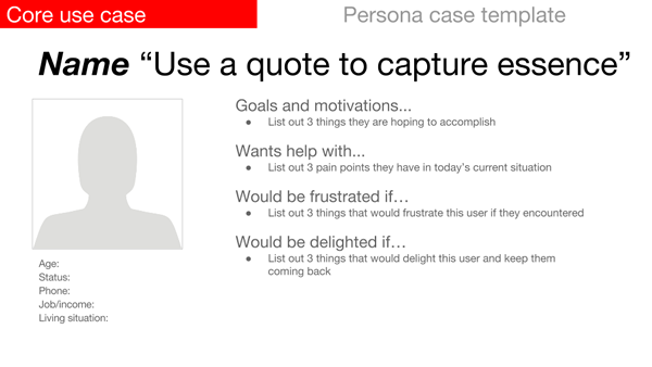 Using Core Use Cases And Personas Engaging Users