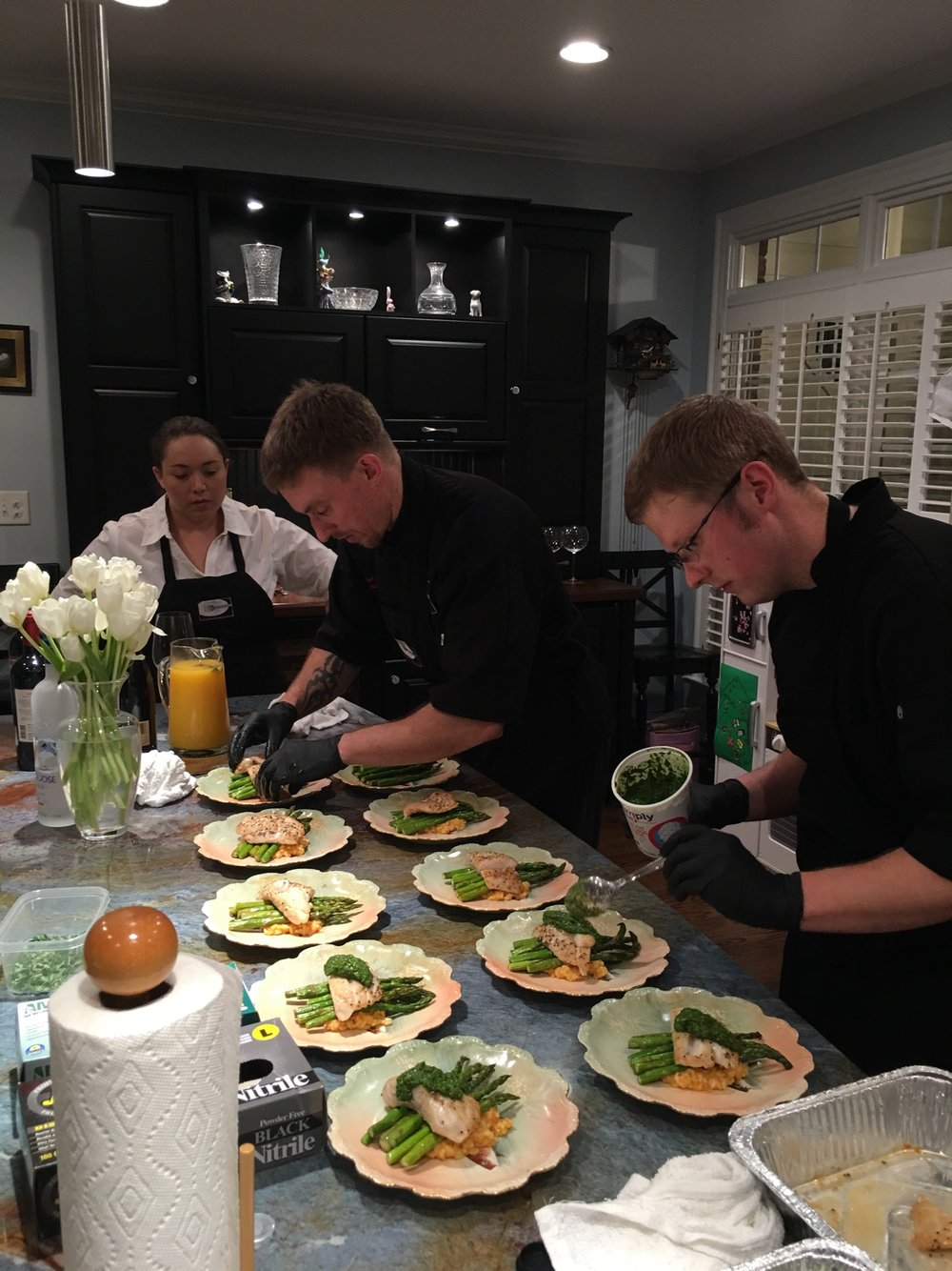 Chef Mike & team prepping for a private event