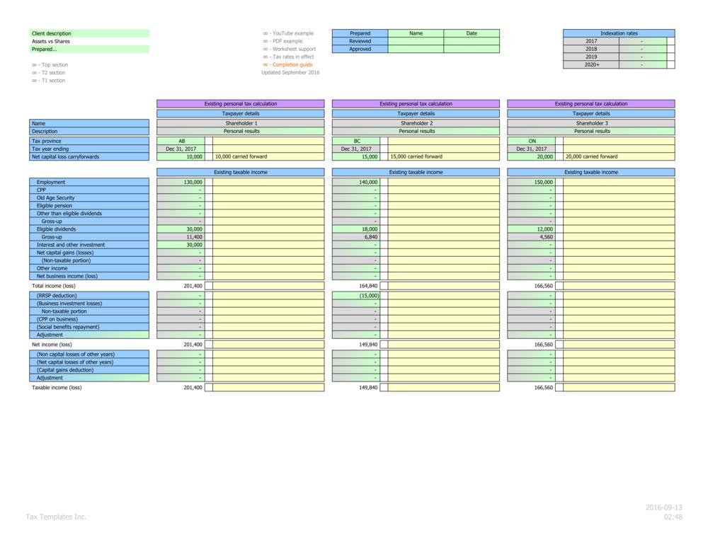 Individual shareholder details