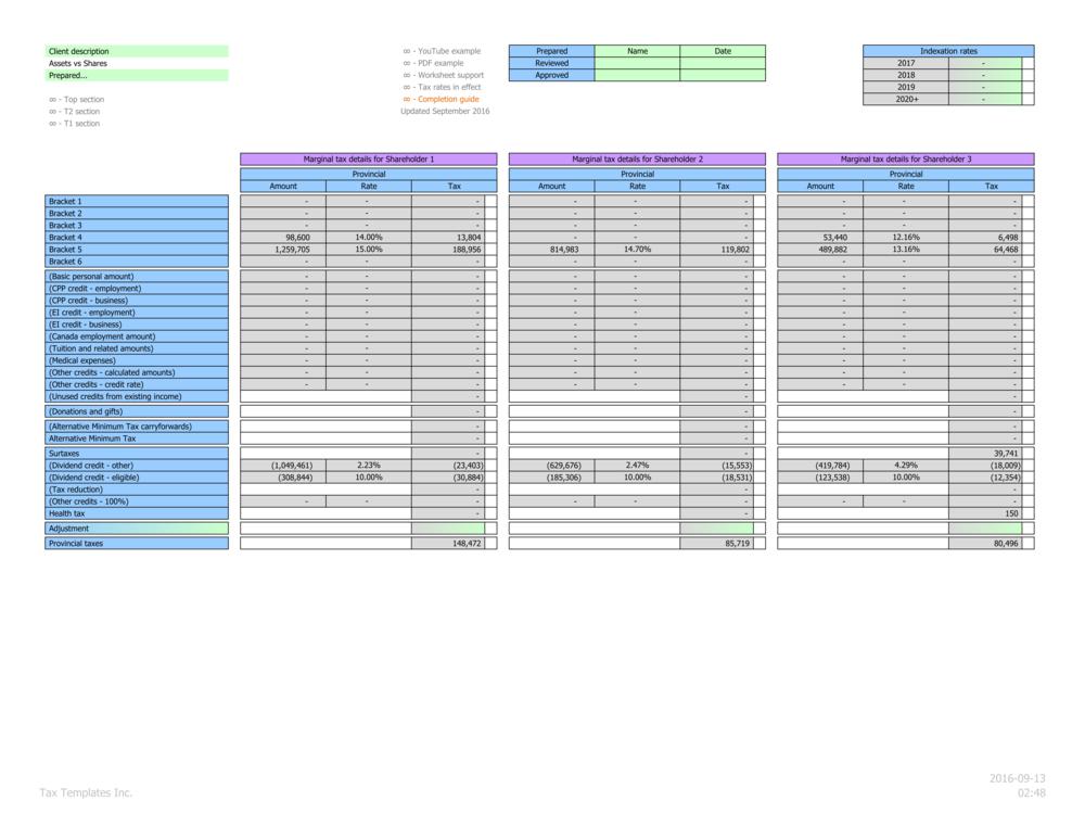 Individual marginal provincial tax details