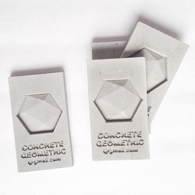 Concrete Business Card —