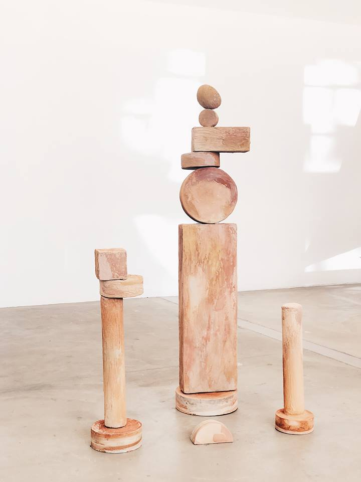 Sacred Site - Concrete sculpture for LA Design Festival June 2018 Inspired by Sound Baths, Sacred Geometry, and sedimentary minerals.