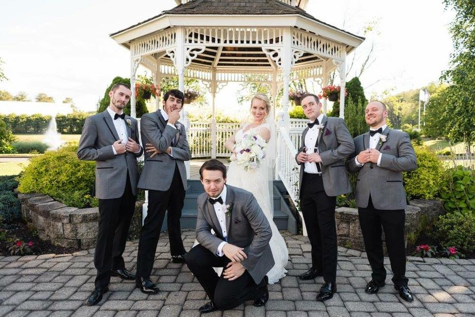 Thank you Oscars for making all of the guys (Dads too!) look incredible on our wedding day! The tuxedos were sexy slim and made everyone look like a rockstar! All of the groomsmen couldn't stop raving about the look and fit. Their wives didn't mind either!! We won't go anywhere else for tuxedo rentals ever again! Highly recommend!!!