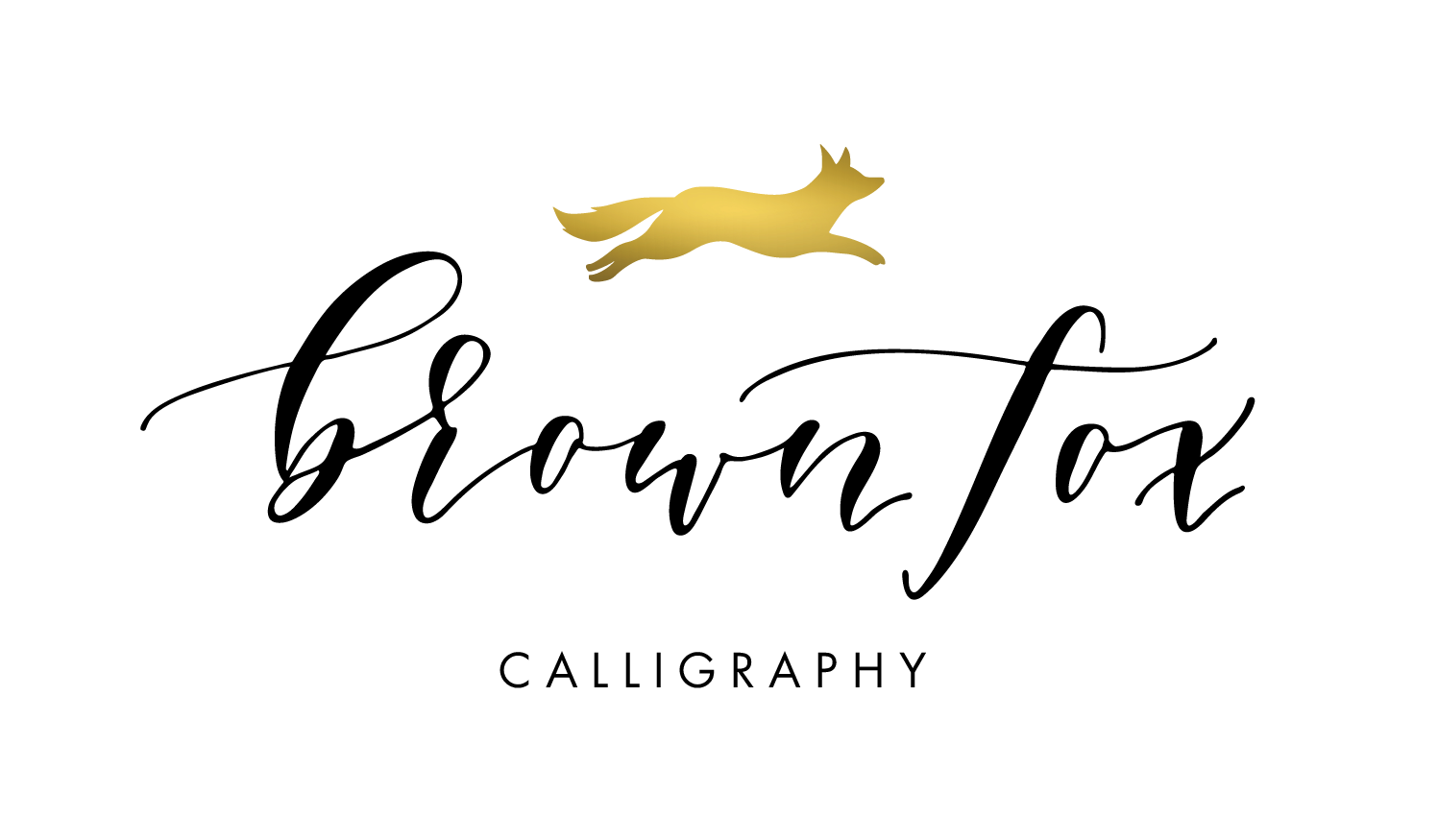Brown Fox Calligraphy