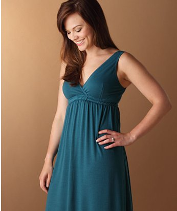 Amamante NursingWear Teal Gown we got to review.