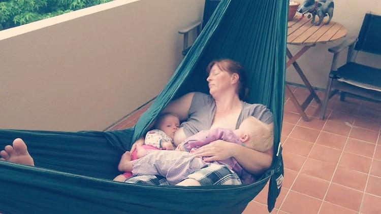 Breastfeeding 4 Year Old triplets Go To School