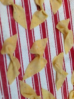 Meyer Lemon Rind Bow Tie Pastas