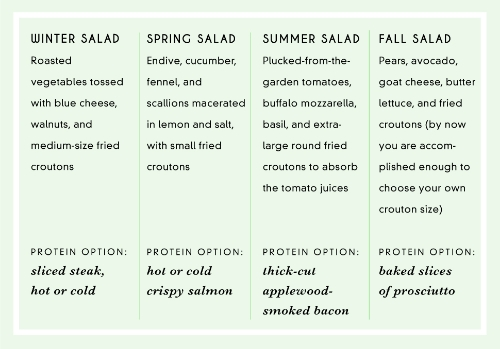 A few seasonal salad recipes to try and  Discover more recipes from the Deans here!