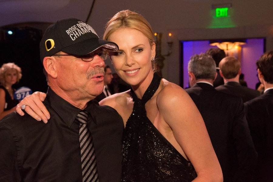 Richard Hotes   (Dean Pollak's host) with Charlize Theron