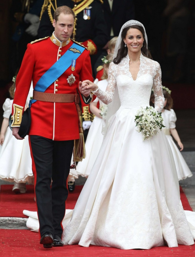 Prince William with his wife