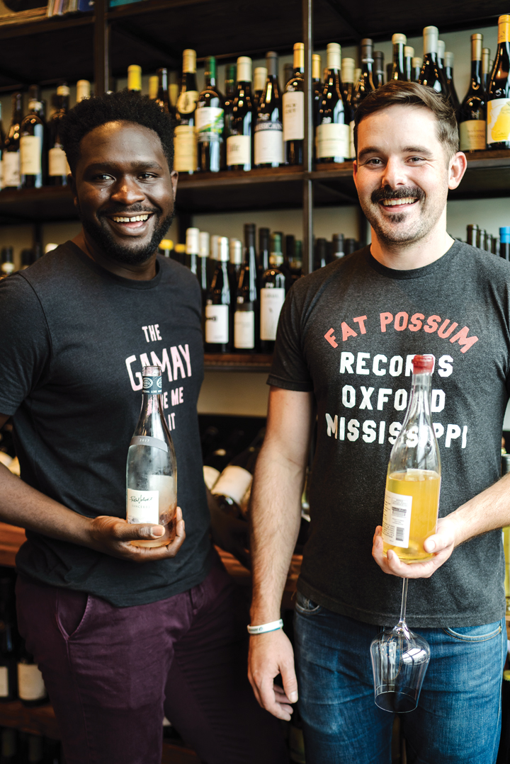 Femi Oyediran, with partner Miles White, of Graft Wine Shop. [Photo: Imbibe Magazine]
