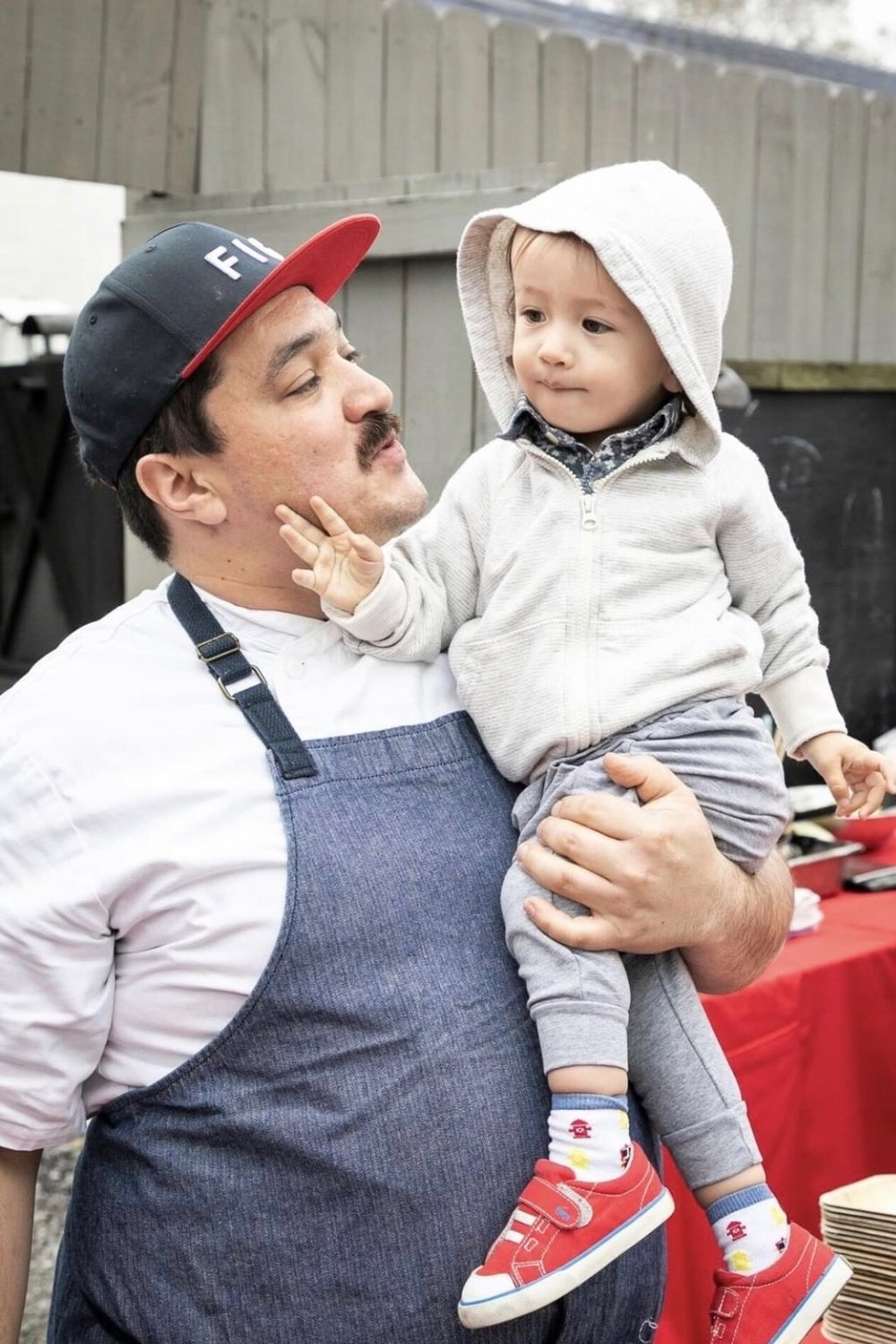 A. K. lives with Jason Stanhope, chef at FIG, and their son Leo. [Photo by John Boncek]