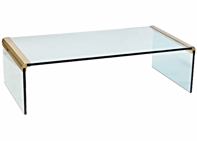 Glass Waterfall Coffee Table By Pace