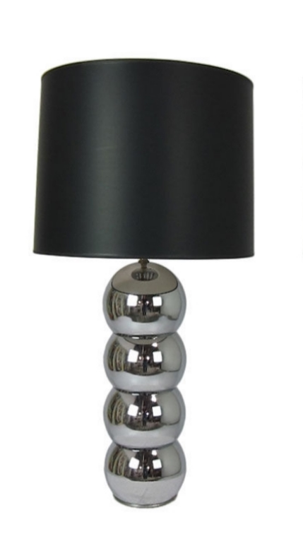 Stacked Chrome Sphere Table Lamp