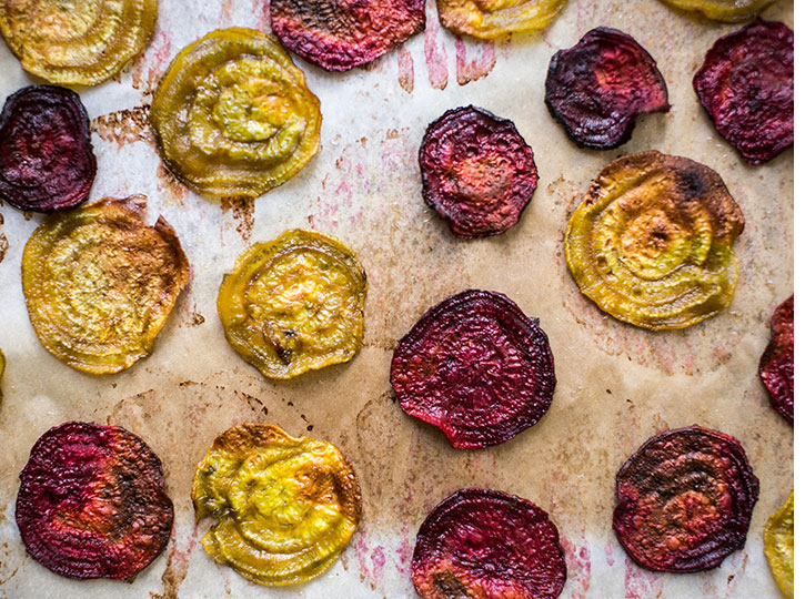 Chips de betterave - Beet chips, aren't they so pretty?