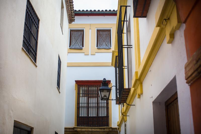 Small street off Plaza de la Corredera / Petite rue près de la Plaza de la Corredera