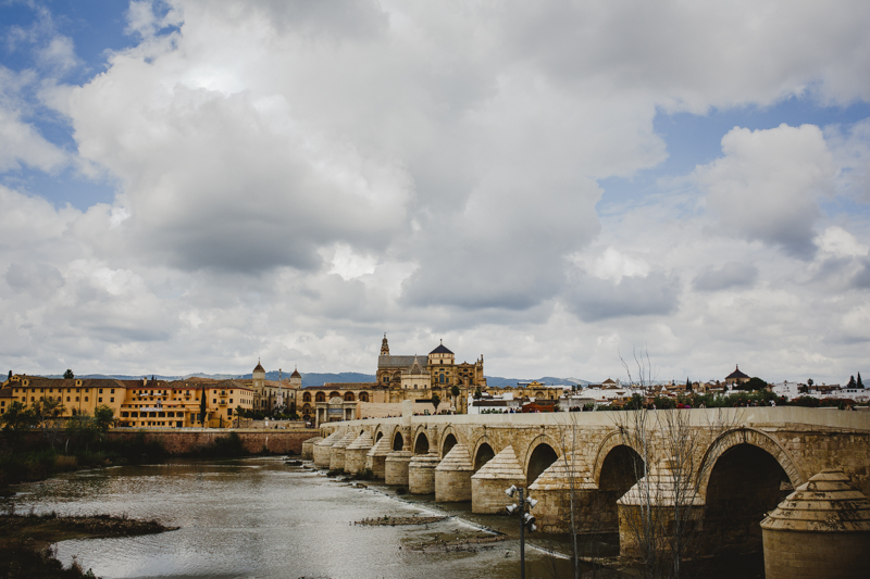 The Roman Bridge and views of Cordoba. Le Pont romain et une vue sur Cordoba.