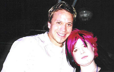 Grant and singer Kelly Osbourne in Washington, D.C., 2002