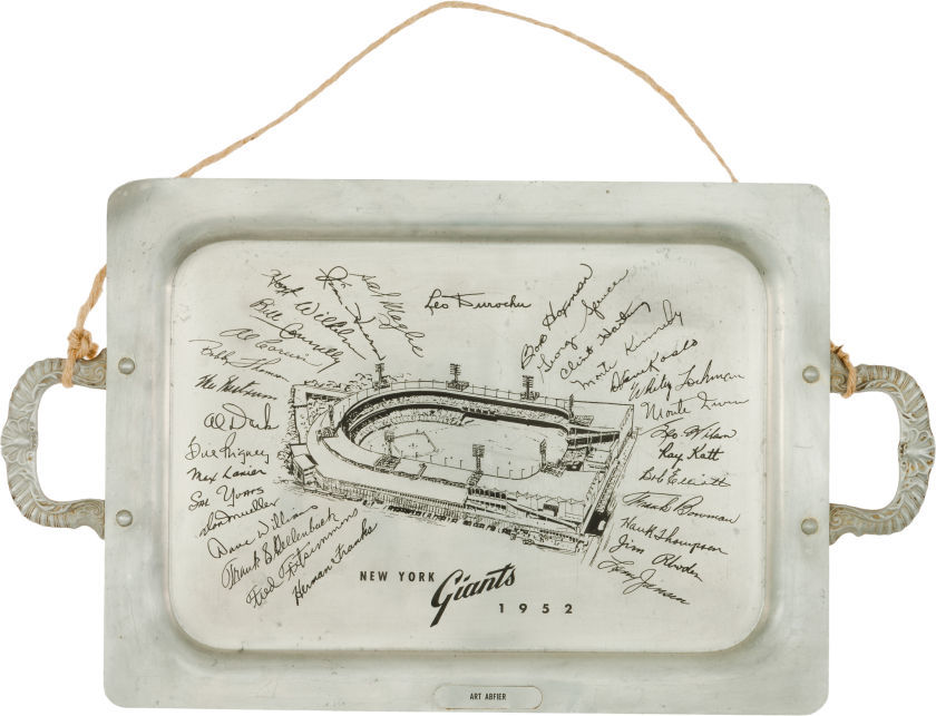 1952 New York Giants Presentation Tray.