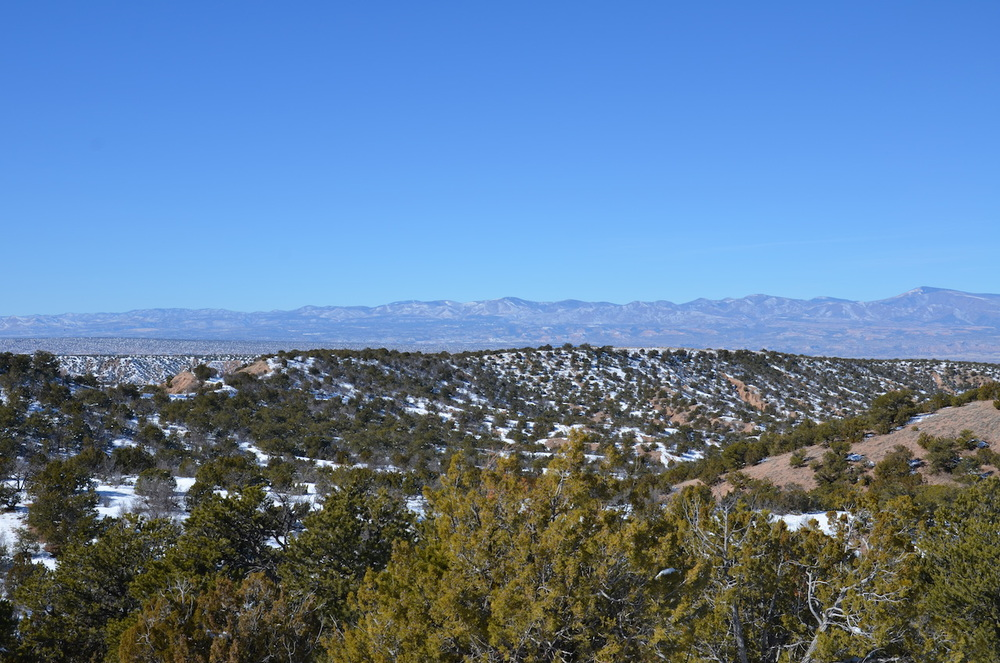 Looking west to the Jemez Mountains