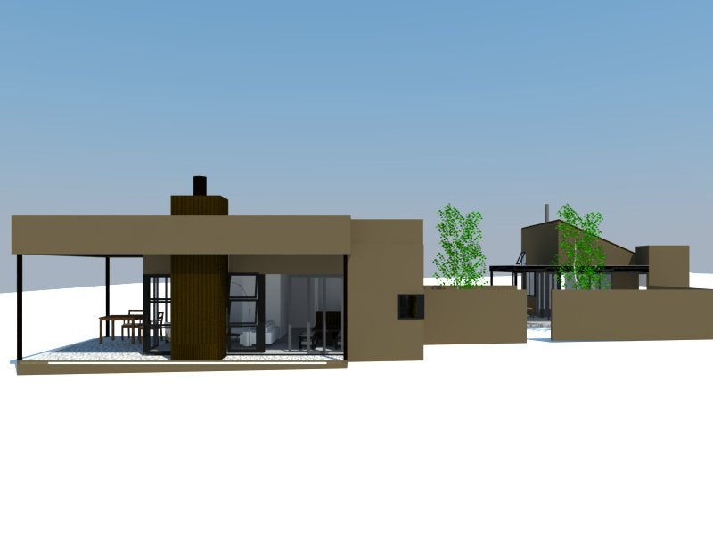 Rendering of 900sf and 450sf  TANSUCASA