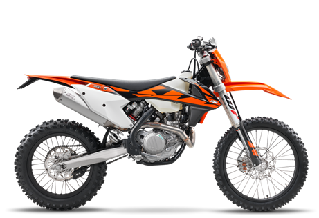 2018 500 EXC $10,999.00 The Alpha The KTM 500 EXC-F is the strongest dual sport bike in the world, although that doesn't mean it's hard to control. This motorcycle is as lean and civilized as a thoroughbred race horse. But let it rip, and its 4-stroke SOHC engine blasts the cutting-edge chassis across any terrain you choose. Ahead of the competition. No sweat, just glory.