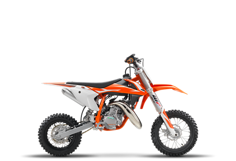 2018 50 SX $4,099.00 Never too young to learn The KTM 50 SX is a true KTM for young MX riders that are READY TO RACE. It is a genuine dirt bike that, like its bigger siblings, is produced with top-quality components. This makes the KTM 50 SX the first choice as a stepping stone into the world of MX or for the first racing step on the ladder. With the youngster in mind this package has an engine that delivers steady, controllable power, incorporating an automatic clutch that is ideal for novice riders. This model features revolutionary WP AER 35 front fork, fully adjustable rear suspension, ultra cool graphics and the ability to make going fast, fun.