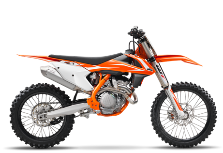 2018 350 SX-F $9,399.00 The Ultimate Combo Since Tony Cairoli first took a KTM 350 SX-F to the top of the MX1 World Championship in 2010, the Red Bull KTM athlete has dominated the class aboard this nimble but powerful bike with 5 consecutive world championship titles. No surprises here, with the combination of 450-style muscle and the agility of a 250. Who said you can't have everything?