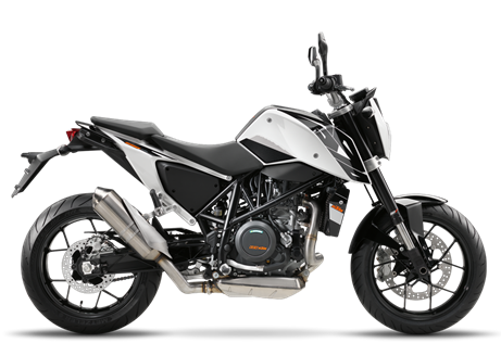 2017 690 Duke  $8999.00  Smooth Criminal  Two decades ago, the original Duke was nothing short of revolutionary. KTM's first single-cylinder street bike grew into a cult classic, adding extreme fun to a raw and radical concept. In 2017, the fully revised 690 DUKE stays faithful to its ancestor's ways, but adds future-proof refinements: impressive smoothness, sophisticated electronics, improved ergonomics and a good old power boost over last year's model. This firmly cements the world's strongest single-cylinder production motorcycle at the cutting edge of engineering. Speaking of which: carving corners has never been more fun, thanks to its revised fork offset. Long live the Duke!