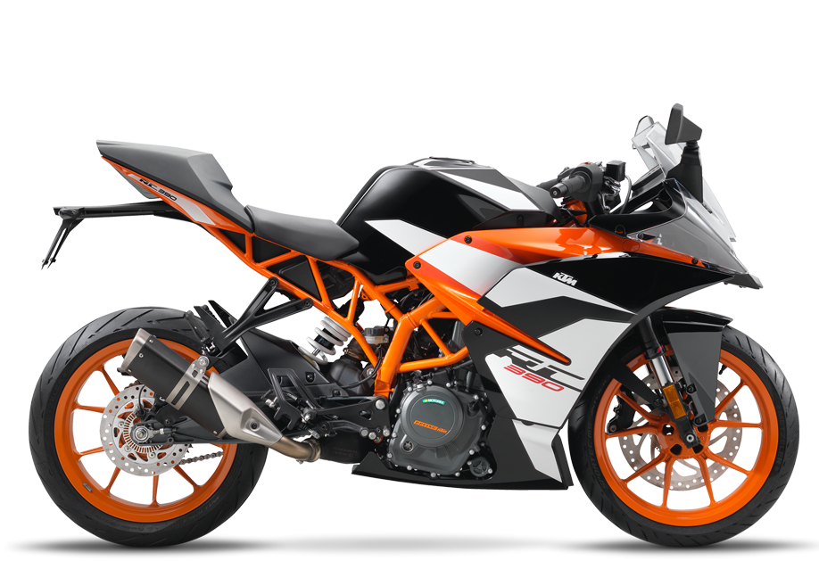 2017 RC 390  $5499.00  Racing Genes  A sports bike in its purest form. Reduced to the essentials. Agile, fast, suitable for A2 driving license and extremely sporty. Whether you are on country roads or the racetrack, the Moto3 genes are perceptible in every manoeuvre and convey pure race feeling. The handling – simply spectacular. The performance – incredible. The power – awesome.
