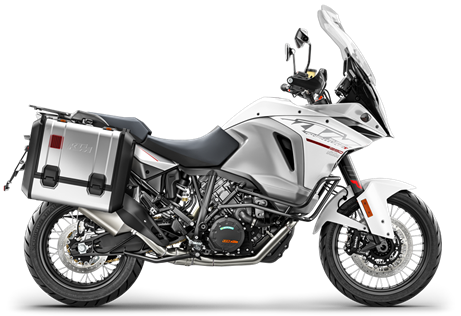 2017 1290 Super Adventure T  $20499.00  World Champion  The KTM 1290 SUPER ADVENTURE T is ready to travel to the top of the food chain, matching its need for speed with your lust for life. This extremely well-equipped 1,301cc powerhouse goes from cruising with a passenger to racing a local at the flick of your wrist. And without breaking a sweat, thanks to KTM's advanced electronics that help you outrun and outsmart tricky conditions. It has never been more comfortable to leave your comfort zone. So go, chase the horizon. You might even catch it.