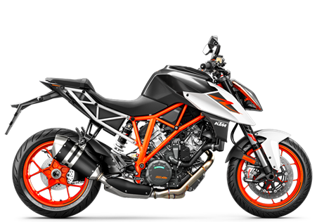 2017 1290 Super Duke R  $17,999.00  Unleash the Beast  This is our punk record - pure, raw and straight to the point: speed. Its V-twin, the most powerful one we ever muscled into a street bike, beats the battle drums at 177 hp, while its purebred chassis is set to stay ahead when the straight is devoured. When corners become prey. Even on a bad day, thanks to state-of-the-art rider assistance systems. No, scratch that. Grin amplifiers.