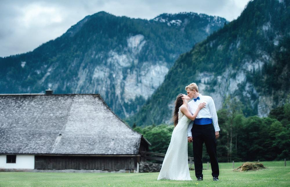 Hochzeit Fotoshooting in Alpen