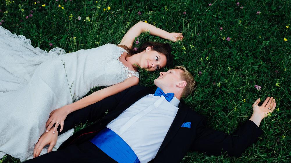 Brautpaarfotoshooting in der Natur
