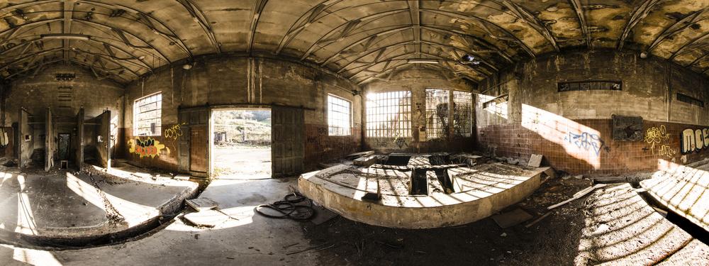 Panorama HDRI equirectangular fotografiado en set.