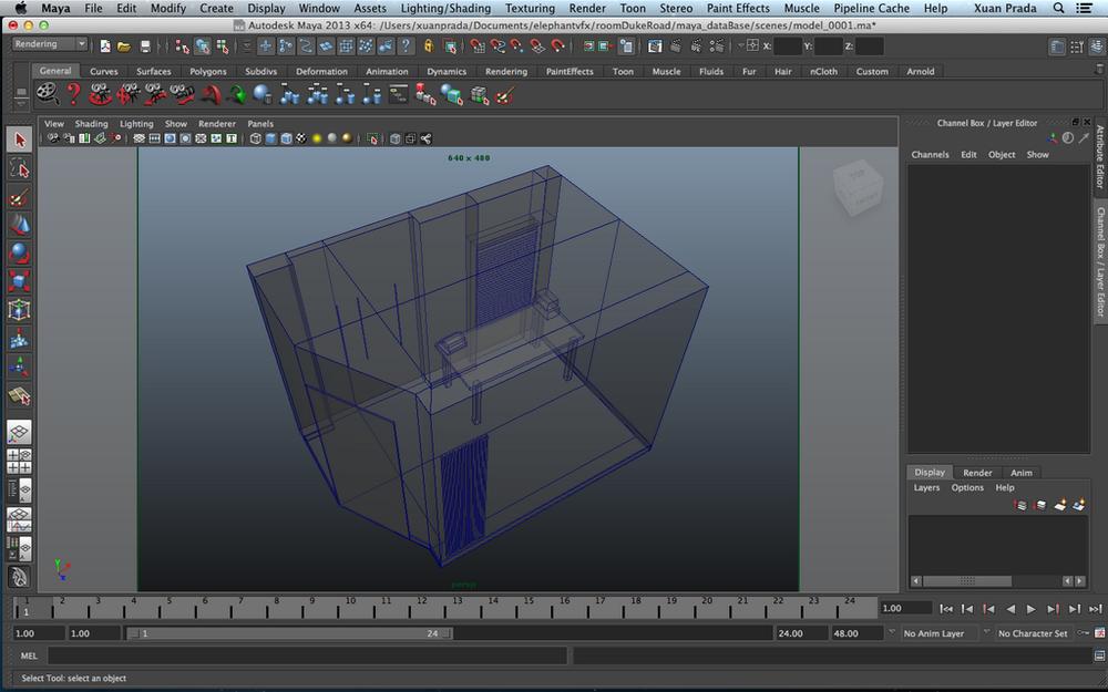 Procesado del scann para convertirlo en polygons renderizables.