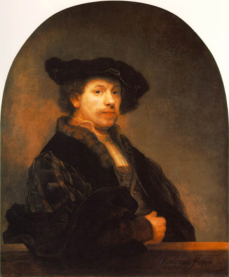 Self Portrait by Rembrandt van Rijn (circa 1640)