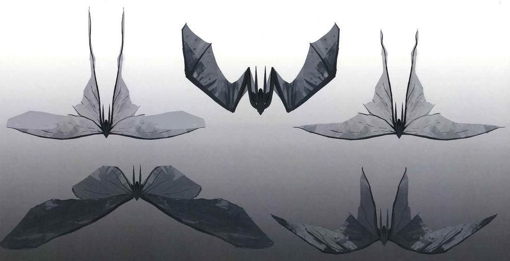 Diseño de los Mutos que invita a pensar en insectos.