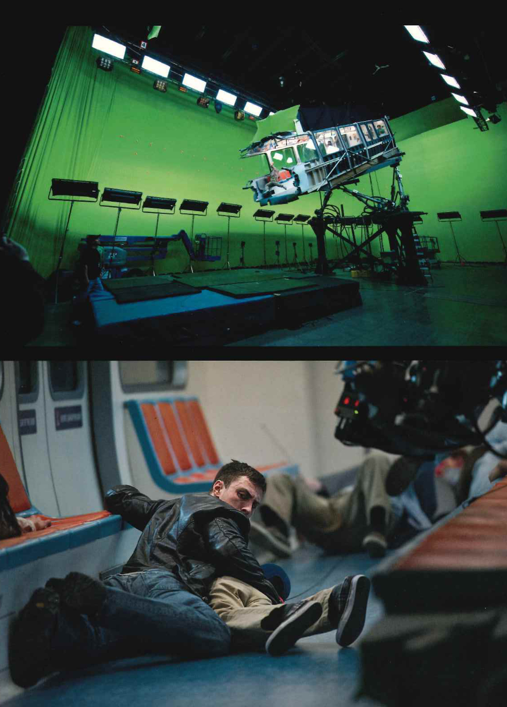 Imágenes del set de rodaje. Secuencia del ataque al monorail.