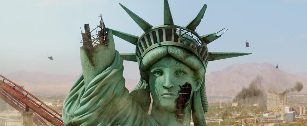 Close-up de la Estatua de La Libertad, Las Vegas.